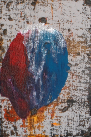 Les Fleurs du mal - Tableaux Parisiens | Acrylic on canvas board - cm 10x15