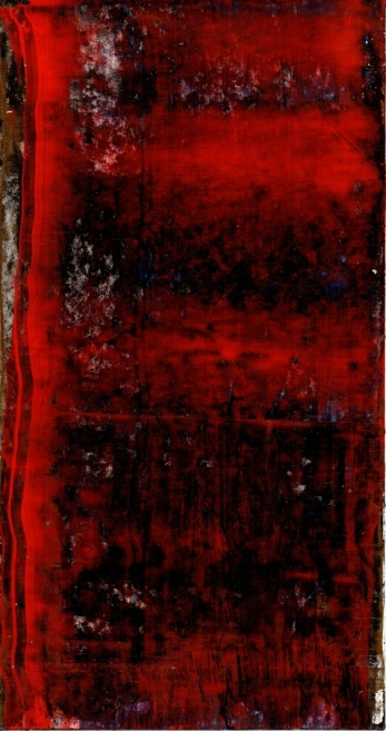 Frammenti I - Assetto verticale 04/2015 Acrylic on cardboard cm 20x38