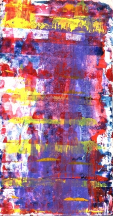 Frammenti I - Desincronizzazione - 04/2015 | Acrylic on cardboard - cm 20x38