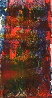 Frammenti I - Lo sguardo di Orfeo - 04/2015 | Acrylic on cardboard - cm 20x38