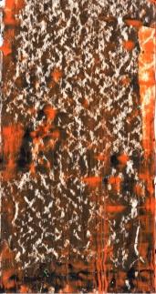 Frammenti I – Rovente muro d'orto - 04/2015 | Acrylic on cardboard - cm 20×38