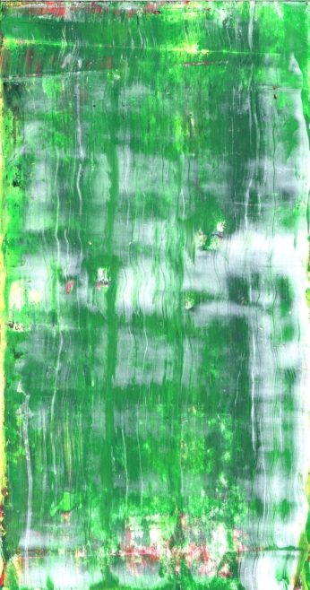 Frammenti I - Seduto ad aspettare - 04/2015 | Acrylic on cardboard - cm 20x38