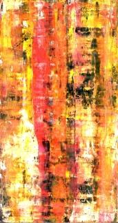 Frammenti I - Stagionalità terrigna - 04/2015 | Acrylic on cardboard - cm 20x38